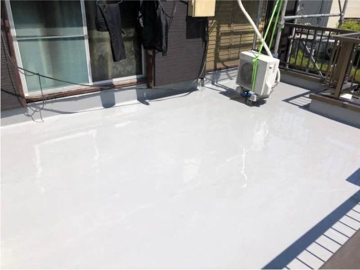 足立区の屋上防水工事のウレタン防水工事
