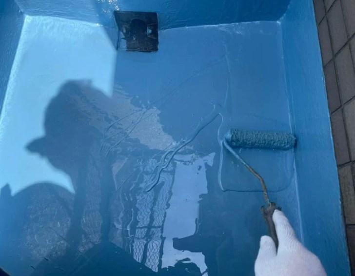 川崎市のベランダ防水工事のウレタン防水