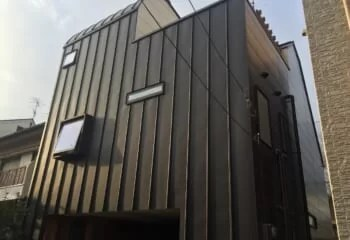 金属サイディングの施工写真