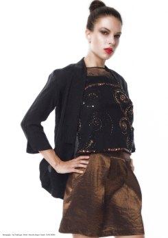 yane mode . lookbook . artisan . Look 15 - Oversized Pockets Black Silk Boyfriend Drapey Jacket