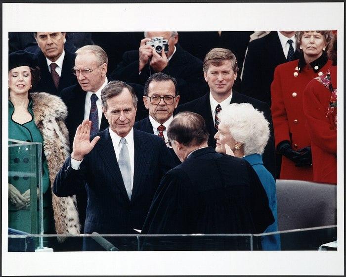 41-й президент США Джордж Герберт Уокер Буш. Библиотека Конгресса США.