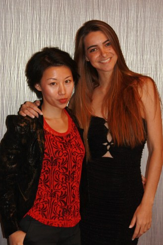YAN FONG &Giselle (TV Host & Reporter based in Hollywood, CA). Nice a nice and charming lady! :)— with Giselle Claudino.