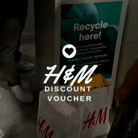Drop your old cloths at H&M and get discount voucher