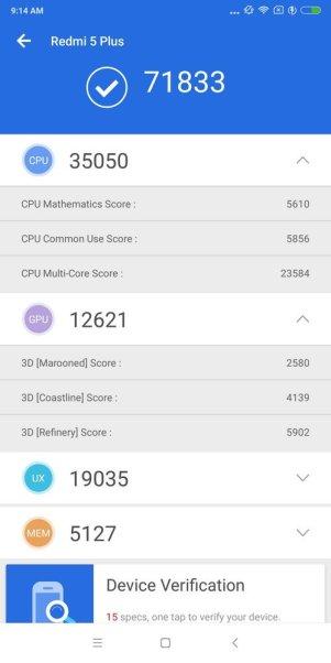 Xiaomi Redmi 5 Plus Antutu