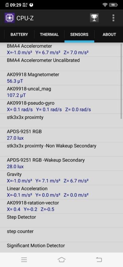 Vivo V11 Pro UI CPU Z (3)