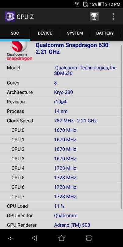 ZenFone 5Q CPU Z (1)