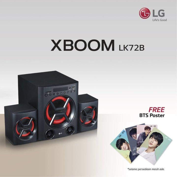 LG XBOOM LK72B: Speaker Multimedia Mungil dengan Bass Bertenaga