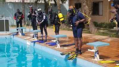 Formation à la plongée sous-marine à Lomé : entrainement piscine