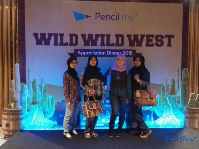 Pencil.my: Wild West Appreciation Night 2015,  Pencil.my,  Wild West Appreciation Night 2015 , Majlis Makan Malam, Pencil.my dinner, cowboy, cowboy muslimah
