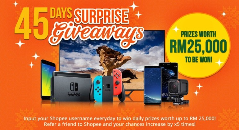 45 Days of Surprise Giveaways