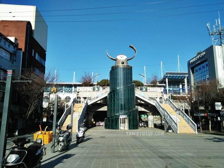 Pemandangan Station Daejeo dari Station Gupo