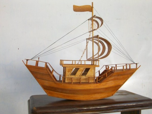 Natural Bamboo Handicraft - Miniature of Ship