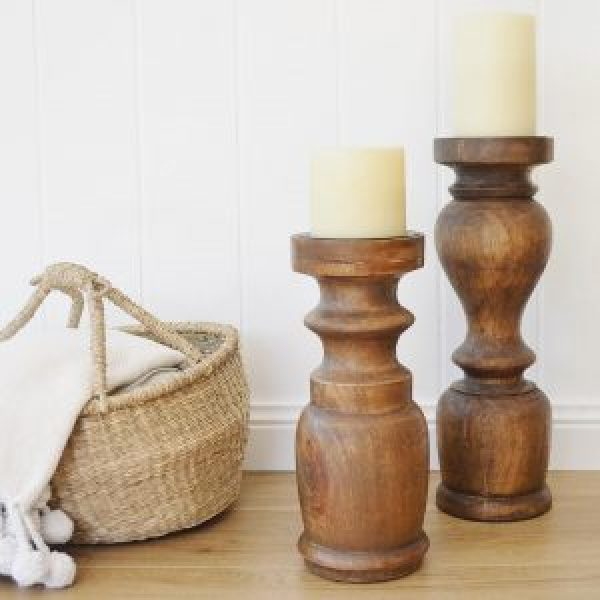 Wooden candle holder indonesia