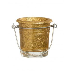 Glitter Votive Holder Gold 1