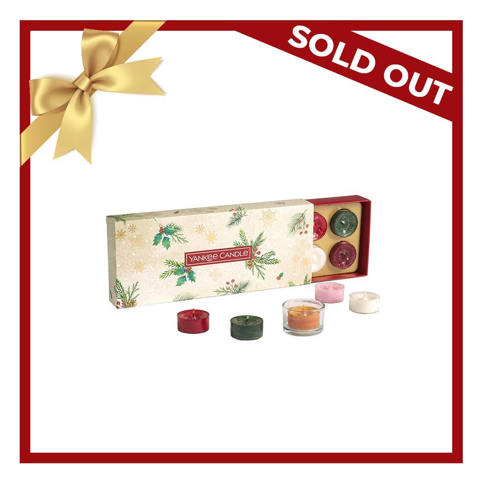 Xmas 20 Tea Light (10) Gift Set & 1 Holder