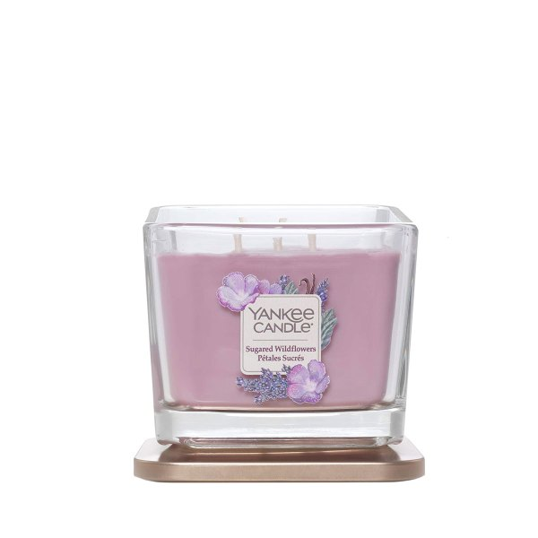 Elevation Sugared Wildflowers Medium Square Candle lid