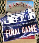 2019 Texas Rangers Final Game T-shirt 💥INCLUDES PROGRAM💥9/29/2019 XL Yankees