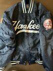 MAJESTIC Mens New York Yankees Snap-Button Bomber Jacket Navy Medium