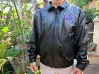 XL 1996 MLB Yankees Braves World Series Leather Jacket ⚾️