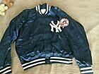 Vtg MLB NY New York Yankees Satin Bomber Jacket USA MADE XL 70s 80s Mens
