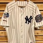 Rare VTG 2000 Majestic NY Yankees Subway World Series Patch Baseball Jersey XL