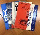1960s New York Yankees Yearbooks (4) 1961 1962 1965 1966