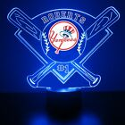 New York Yankees Light Up, MLB Baseball LED Sports Fan Lamp, Personalized FREE