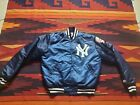 VTG New York Yankees Sz M navy Starter Satin Bomber Jacker 90s MLB