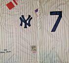NY Yankees Legend Mickey Mantle #7 Replica THROWBACK Mens MEDIUM Baseball Jersey