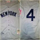 Retro NY Yankees Legend Lou Gehrig #4 Replica Sz Large Throwback Baseball Jersey