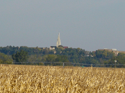 Awareness of God: Image of the Bishop Marty Chapel from a field