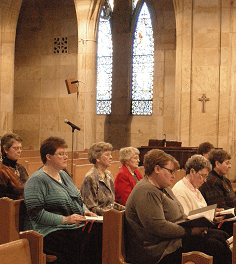 Awareness of God: Yankton Benedictine Sisters pause during the Liturgy of the Hours