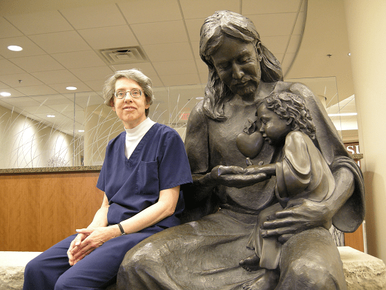 Yankton Benedictines Sr Sarah at Sacred Heart