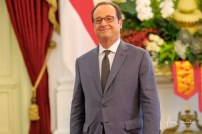 Jakarta - French President Francois Hollande in Merdeka Presidential Palace