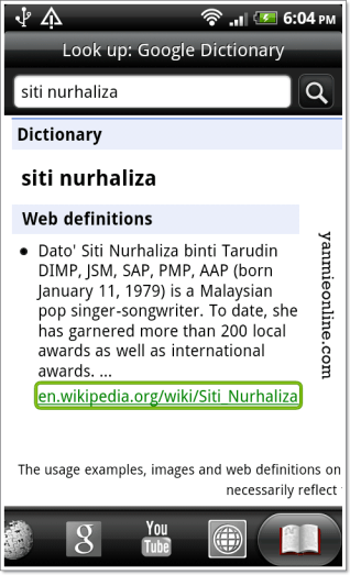 google dictionary
