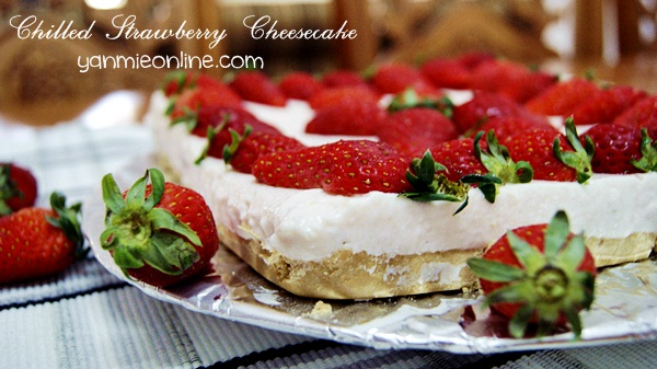Chilled Strawberry Cheesecake