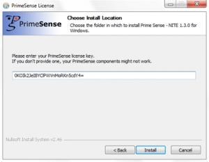 The NITE key request window