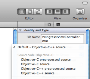 Xcode Objective-C++ File Type
