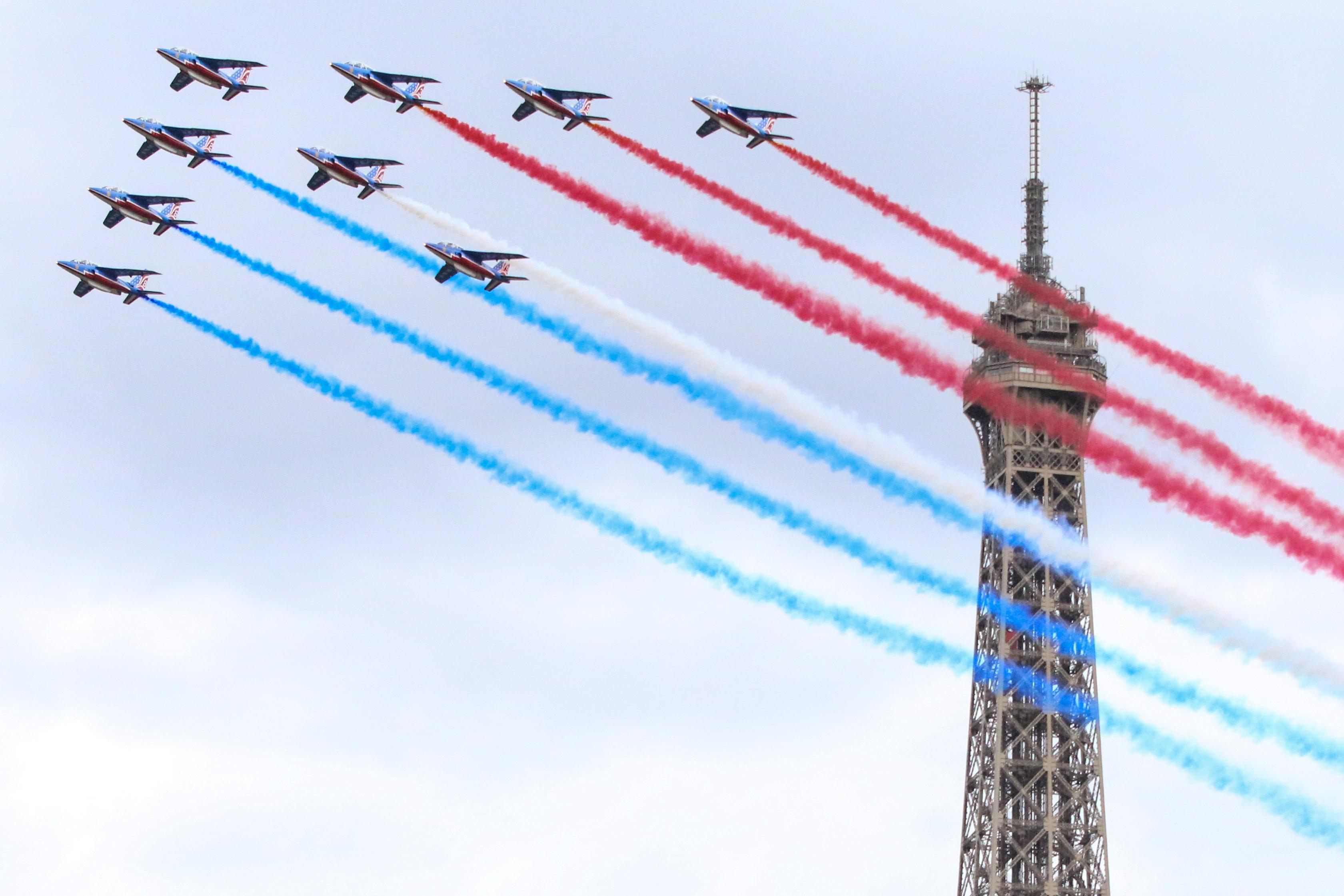 La patrouille de France à Paris le 23 juillet 2017