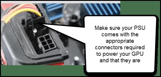 gpu power connector computer wont turn on