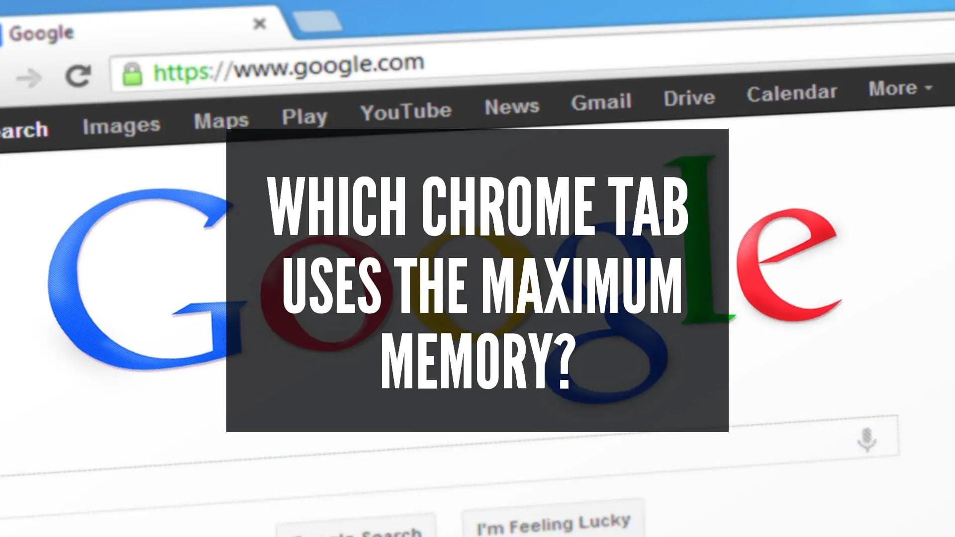 Chrome taskbar How To Tell Which Chrome Tab Is Using Memory