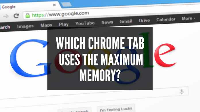 how to tell which chrome tab uses the maximum memory