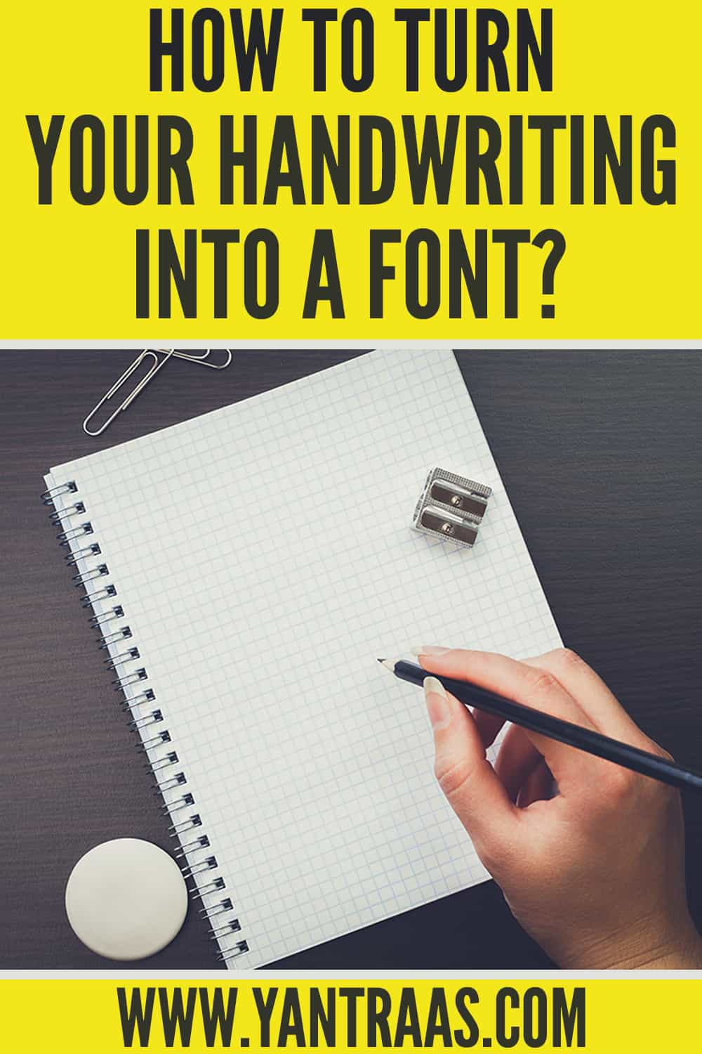 turn your handwriting into font