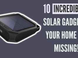 10 Fantastic Gadgets For Your Home That Run On Solar Energy
