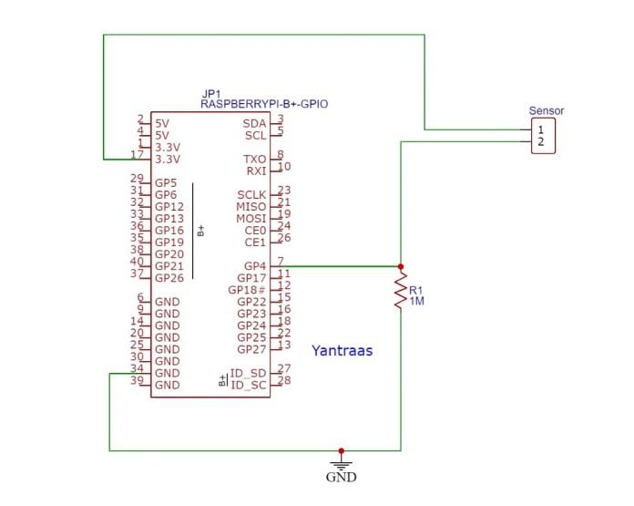 interfacing arduino sensors work with raspberry pi using a resistor