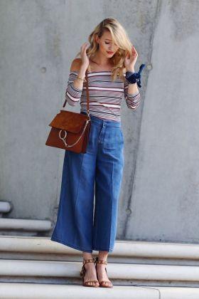 Очень широкие джинсы