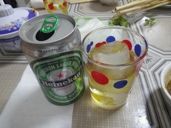 ビールに氷