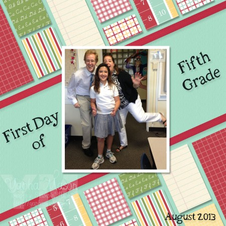 First Day of 5th Grade by Yapha Mason