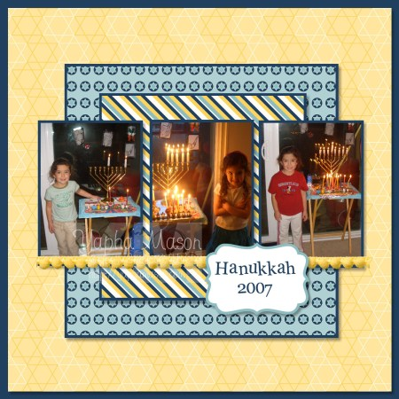 Hanukkah Scrapbook Page by Yapha Mason