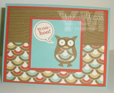 Woo hoo owl card by Yapha
